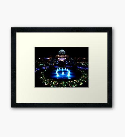 Lewis Ginter Botanical Gardens-Festival of Lights      ^ Framed Print
