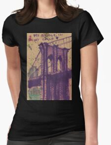 brooklyn bridge in my color Womens Fitted T-Shirt