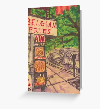 belgian fries Greeting Card