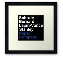 Schrute Bernard Lapin-Vance Stanley - White  Framed Print