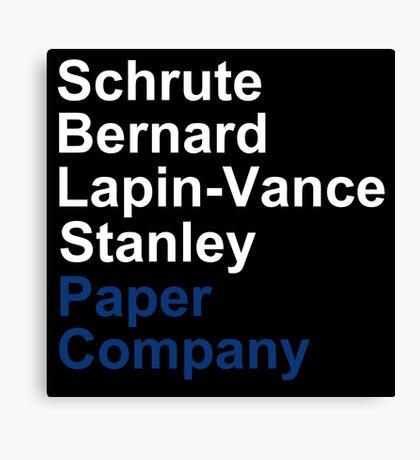 Schrute Bernard Lapin-Vance Stanley - White  Canvas Print
