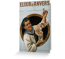 Vintage poster - Elixir d'Anvers Greeting Card