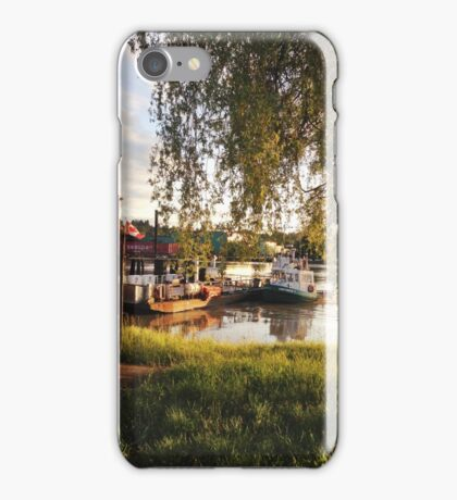 Tugboat on the River iPhone Case/Skin