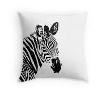 Zebra Head 4M Throw Pillow