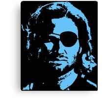 Plissken Portrait (Blue) Canvas Print