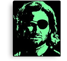 Plissken Portrait (Green) Canvas Print