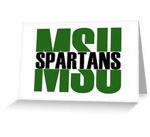 Michigan State University - Spartans Split Greeting Card