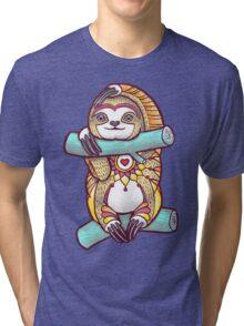 Mandala Sloth Tri-blend T-Shirt