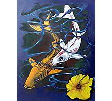 Koi Fish Painting With Acrylic Photographic Print