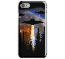 I Believe - UFO over the Woods iPhone Case/Skin