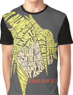 Final Fantasy VII (7) - Cloud Strife - Typography Graphic T-Shirt