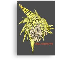 Final Fantasy VII (7) - Cloud Strife - Typography Canvas Print
