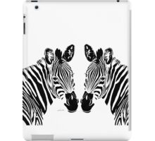 Zebra Head 4P Twins iPad Case/Skin