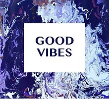 Good Vibes Abstract  by Emily Lanier
