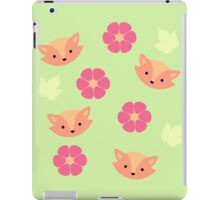 'Fox in Flowerbed' Original Pattern design iPad Case/Skin