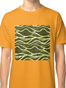 simple green waves pattern Classic T-Shirt