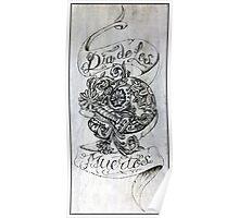 Dia De Los Muertos - Day Of The Dead - Burnt into Skateboard Deck Poster