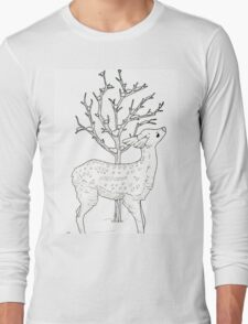 Winter Fawn Long Sleeve T-Shirt