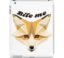 'Bite me' decal iPad Case/Skin