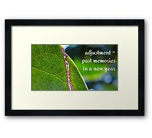 torn leaf Framed Print