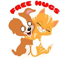 'Free hugs' decal by Furrnum
