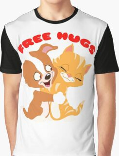'Free hugs' decal Graphic T-Shirt