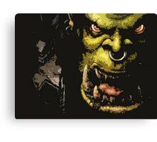 Warcraft Orc Canvas Print