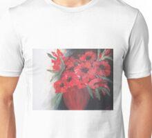Red Flowers Red Vase Unisex T-Shirt