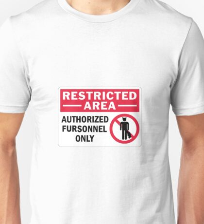 'Authorised fursonal only' decal Unisex T-Shirt