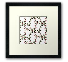 simple pink roses pattern Framed Print