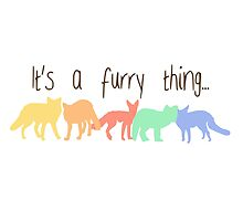 'It's a furry thing' decal by Furrnum