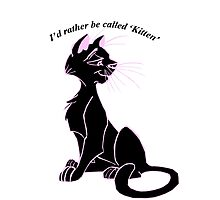 'I'd rather be called 'kitten'' image decal by Furrnum