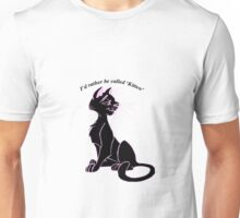 'I'd rather be called 'kitten'' image decal Unisex T-Shirt
