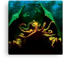 Pixelated Cthulhu Mythos Canvas Print