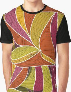 orange flowers \ leave pattern Graphic T-Shirt