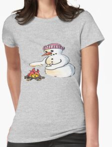 Freezing Snowman Womens Fitted T-Shirt