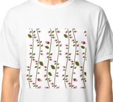 simple pink roses pattern Classic T-Shirt