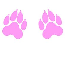 paw print chest decal by Furrnum
