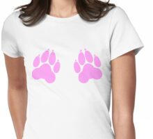 paw print chest decal Womens Fitted T-Shirt