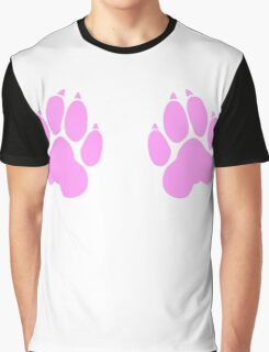 paw print chest decal Graphic T-Shirt