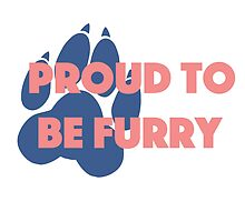 'Proud to be furry' decal by Furrnum