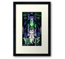 Sherlock - Say Hello to the Virus Framed Print