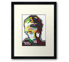 WPAP OF Justin Framed Print