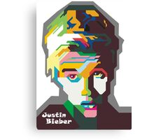 WPAP OF Justin Canvas Print
