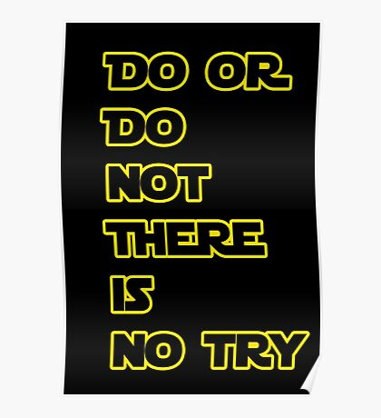 Yoda Quote Star Wars  Poster