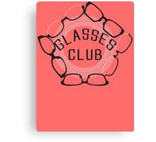 Glasses Club Canvas Print