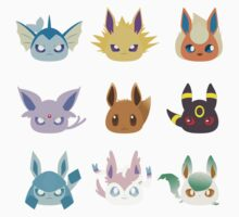 Eevee Evolutions Kids Clothes