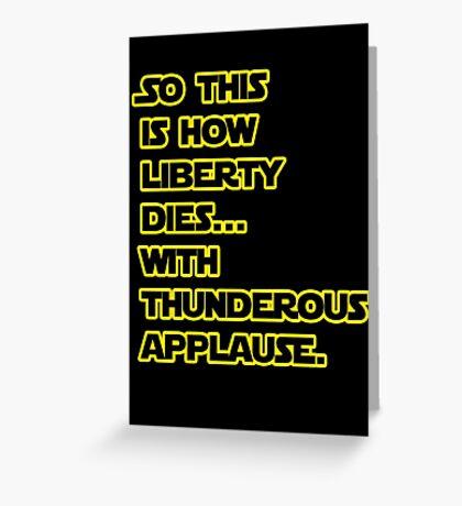 Padme Amidala Quote Star Wars Greeting Card