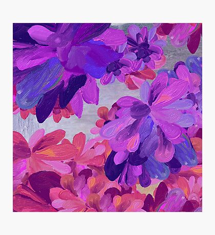 purple garden Photographic Print