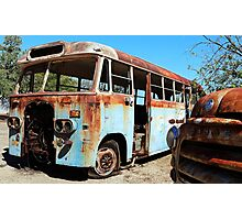 The Old Blue Bus Photographic Print